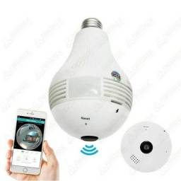 Lampada Espiã Segurança V380 Wi-fi Controla Pelo Celular App