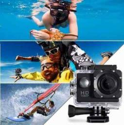 QUEIMA DE ESTOQUE!Câmera Esportiva Go Pro Full HD 1080p a prova d'água