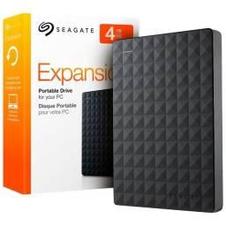HD Externo Portátil Seagate Expansion 4TB *Nota Fiscal *Novo Lacrado