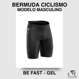Bermuda Ciclismo Masculina Forro em Gel