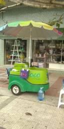 Carrinho de coco verde personalizado