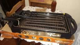 churrasqueira elétrica 220/110, Fischer Grill, pouco uso..