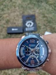 Relógio analógico Curren luxo