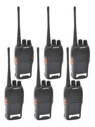 6 Unidades de Rádios Comunicadores Walk Talk Bf-777s<br>