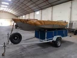 Barco, com reboque e motor! - 2012
