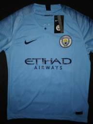 Camisa de Futebol Manchester City 18 19 Importada Oficial f3ef55f0ef674