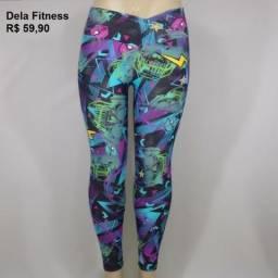 Calça Legging Dela Fitness Estampada