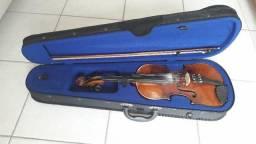 Violino Alemão Com Caixa E Arco + Acessórios