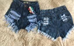 Shorts jeans desfiado