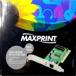 Placa De Rede 10/100/1000 Pcie Maxprint - Mgb-1000