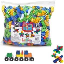 Blocos De Montar 500 Peças Brinquedo Educativos
