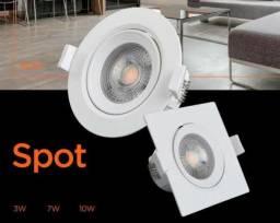 Kit 10 Spot LED 5w Gesso, Forro, Drywall