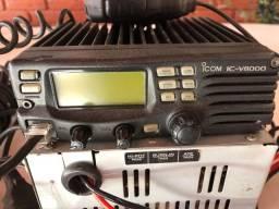 Estação de rádio vhf icv 8000