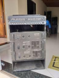 Amplificador e equalizador e crossover