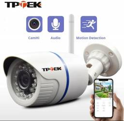 Câmera ip Externa- TPTEK à prova d'água Infravermelho e áudio