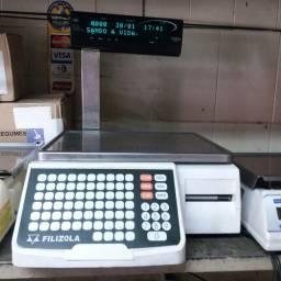 Balança eletronica com impressora modelo platina