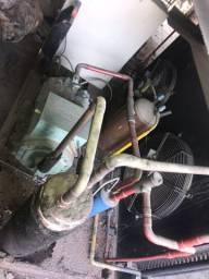 Unidade condensadora BITZER de 10 HP com a evaporadora