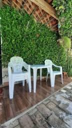 Conjunto mesa c/4 cadeiras, marca PlastMaster