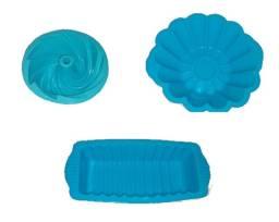 Kit Forma de Silicone para bolos