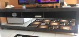 Rack com gavetas espelhadas