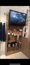 Nicho expositor de MDF de Tv e Acessórios pra loja