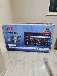 "TV 50"" SMART JVC ANDROID 4K ULTRA HD COM NOTA FISCAL"