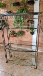 Vendo estante e mesa de vidro