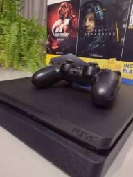 PS4 slim 1 tera de memória ( Seminovo)