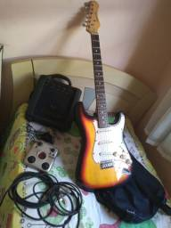 Guitarra e kit completo