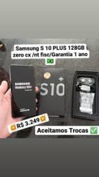 Samsung S10 Plus 128gb/8GB Ram/Zero cx/Nt fiscal/Ac Trocas