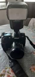 Nikon câmera+lente+flash