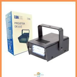 Mini Strobo Flash Projetor de Luz para Festas Balada DJ