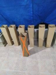 Kit com 6 cachepôs grandes em MDF cru