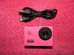 Câmera de ação Action Cam - Rosa