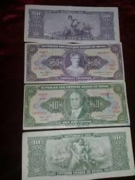Cedula 50 e 10 Cruzeiros