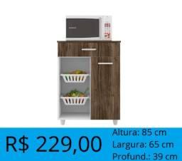 Balcão de microondas com fruteira - entrega e montagem gratuita