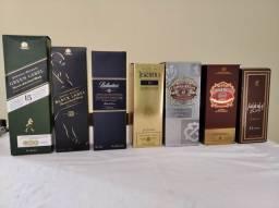 Caixas de Whisky vazias para colecionadores