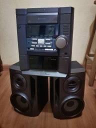 Som Sony Mod. Mhc-dx10B com duas caixas de som