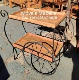 Carrinho de Chá Bar demolição ferro móveis rústicos exclusivos