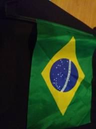 Bandeira do Brasil com suporte para vidro de carro