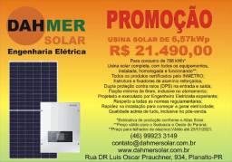 Usina Solar Fotovoltaica de 6,57kWp