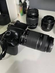 Câmera Canon T3+3lentes