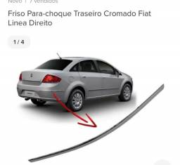 Friso lateral traseiro do Fiat Linea