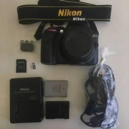 Câmera Nikon D3300 Lente 50mm 1.8 G Parcelo no cartão
