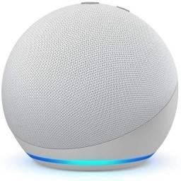 Amazon Alexa Novo Echo Dot (4ª Geração): Smart Speaker - Cor Branca - Lacrado na Caixa