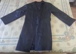 Título do anúncio: Jaqueta em couro legitimo (feminino longo) NOVO