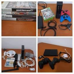 XBOX 360 + NINTENDO WII + PS2