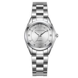Relógio Prata Strass