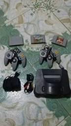 Vendo um Nintendo 64 completo