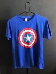 Título do anúncio: Camiseta Capitão América M usada